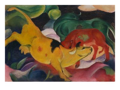 Cows Yellow-Red-Green, 1912-Franz Marc-Giclee Print