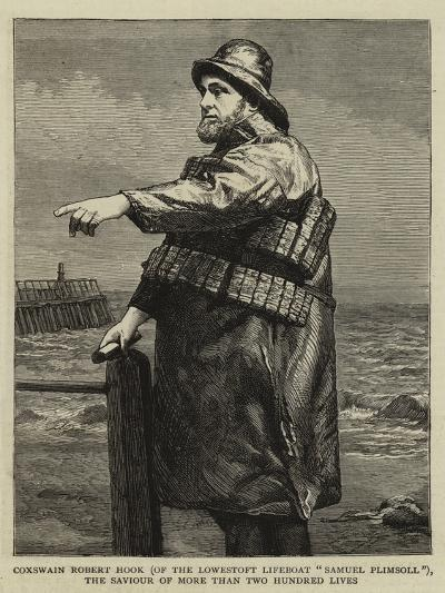 Coxswain Robert Hook (Of the Lowestoft Lifeboat Samuel Plimsoll)--Giclee Print