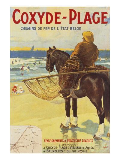 Coxyde-Beach; Coxyde-Plage-Matteoda Angelo Rossotti-Giclee Print