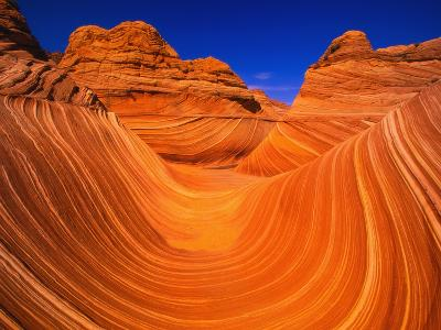 Coyote Butte's Sandstone Stripes-Joseph Sohm-Photographic Print