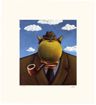 Coyote Portrait of Magritte-Markus Pierson-Limited Edition