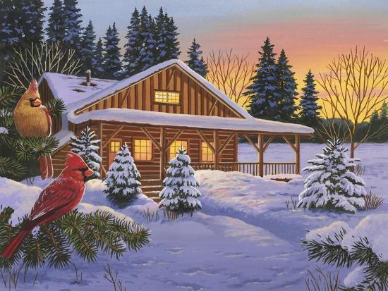 Cozy Cabin-William Vanderdasson-Giclee Print