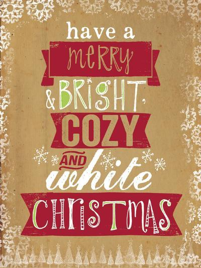 Cozy White Christmas-Katie Doucette-Art Print