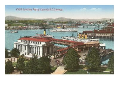 CPR Landing Place, Victoria, British Columbia--Art Print