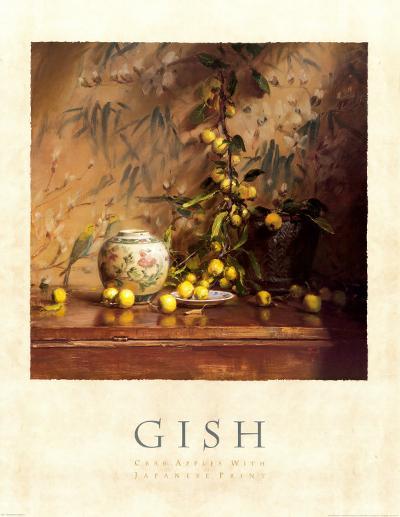 Crab Apples with Japanese Print-Del Gish-Art Print