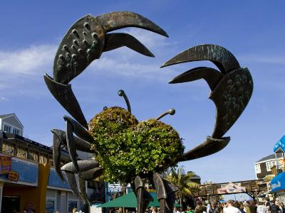 Crab Art on Pier 39-Christina Lease-Photographic Print