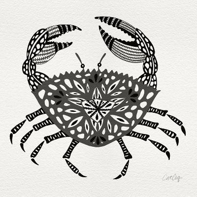 Crab in Grey-Cat Coquillette-Giclee Print