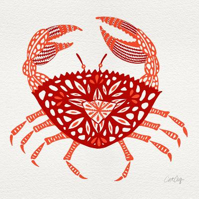 Crab in Red-Cat Coquillette-Giclee Print