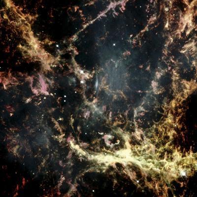 Crab Nebula Gas Filaments--Photographic Print
