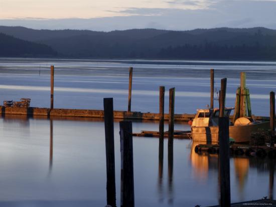 Crab Pots on Deck, Grayland Dock, Grays Harbor County, Washington State, United States of America-Aaron McCoy-Photographic Print