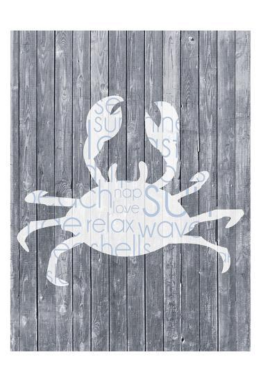 Crab Wood Panel-Lauren Gibbons-Art Print