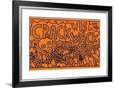Crack is Wack-Keith Haring-Framed Giclee Print