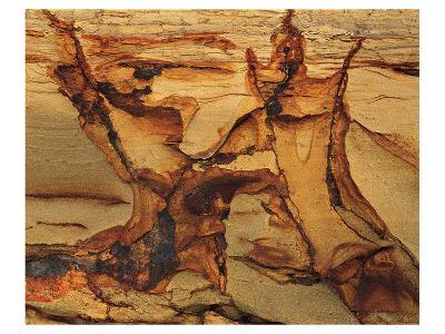 Cracked Sand Stone--Art Print