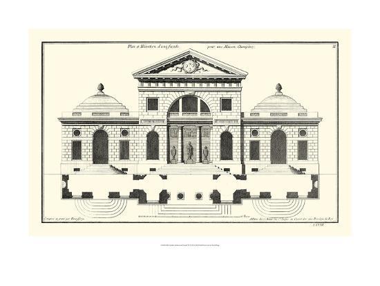Crackle B&W Architectural Facade VI-Jean Deneufforge-Art Print
