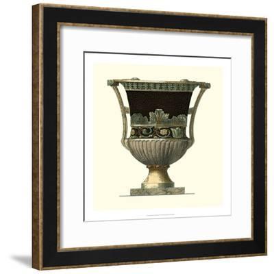 Crackled Large Giardini Urn I-Giovanni Giardini-Framed Art Print
