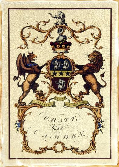 Crackled Lord Camden-Jacobs Peerage-Giclee Print