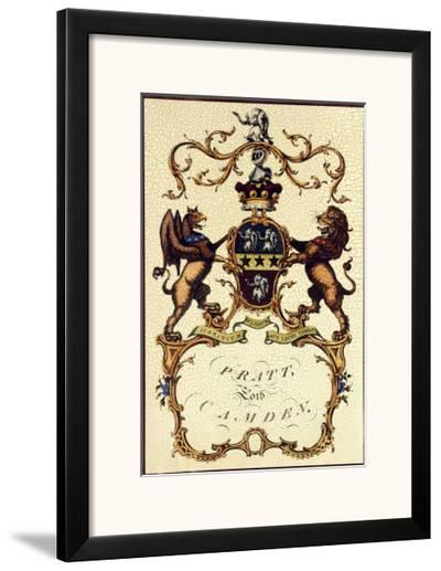Crackled Lord Camden-Jacobs Peerage-Framed Art Print