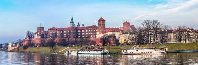 Cracow Skyline with Aerial View of Historic Royal Wawel Castle and City Center-bloodua-Photographic Print