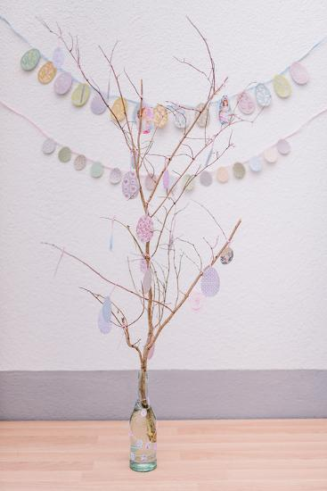 crafted Easter bunch, close up, Still life Easter-mauritius images-Photographic Print
