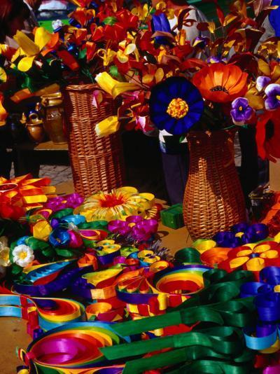 Crafted Flowers and Decorations for Sale, Kazimierz Dolny, Lubelskie, Poland-Krzysztof Dydynski-Photographic Print
