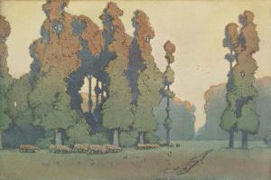 Craftsman Landscape with Sheep