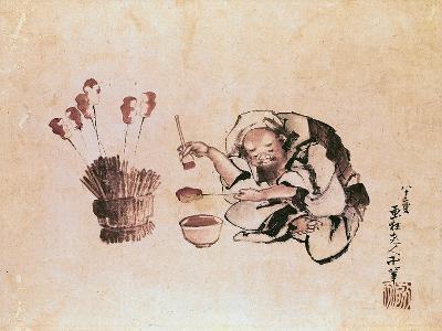 Craftsman Painting Toys-Katsushika Hokusai-Giclee Print
