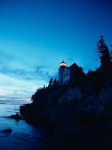 Lighthouse at Dusk by Craig Aurness