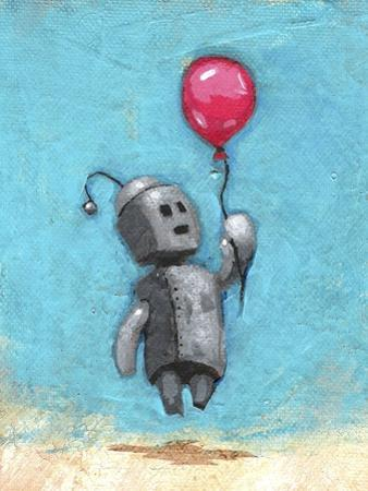Robot with Red Balloon by Craig Snodgrass