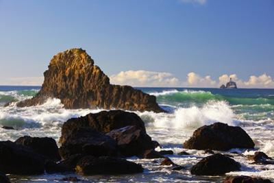Afternoon Light Along Indian Beach and Tillamook Rock Lighthouse, Ecola State Park, Oregon Coast by Craig Tuttle