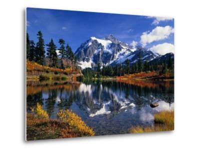 Autumn Foliage Surrounding Picture Lake