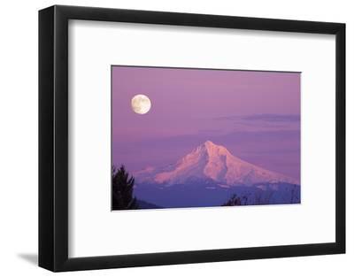 Mount Hood and Full Moon