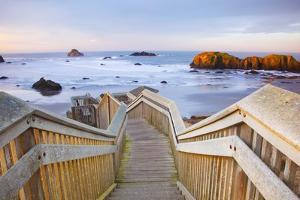 Rock Formations at Low Tide, Bandon Beach, Oregon Coast, Pacific Northwest. Pacific Ocean by Craig Tuttle