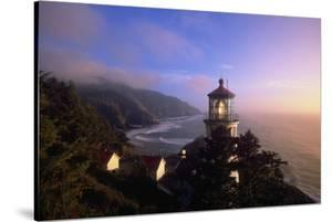Sunset at Heceta Head Lighthouse in Oregon by Craig Tuttle