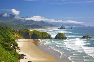 View of Cannon Beach from Ecola State Park by Craig Tuttle