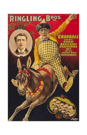 Crandall Ringling Circus--Art Print