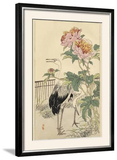 Crane and Peony-Bairei-Framed Photographic Print