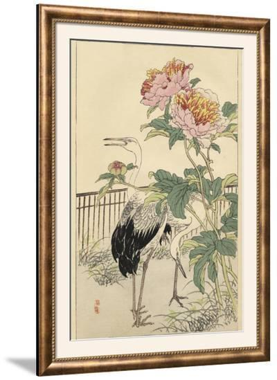 Crane and Peony-Bairei-Framed Photographic Print