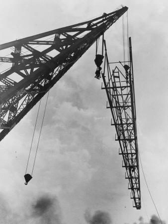 Crane at Work--Photographic Print