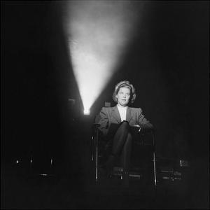 Vogue - July 1944 - Joan Harrison in Screening Room by Crane Ralph