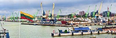 Cranes at a Shipping Port, Klaipeda, Lithuania--Photographic Print