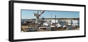 Cranes at metal factory, Bath, Sagadahoc County, Maine, USA