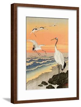 Cranes on Seashore-Koson Ohara-Framed Giclee Print