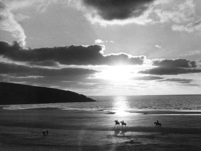 Crantock Bay Riders--Photographic Print