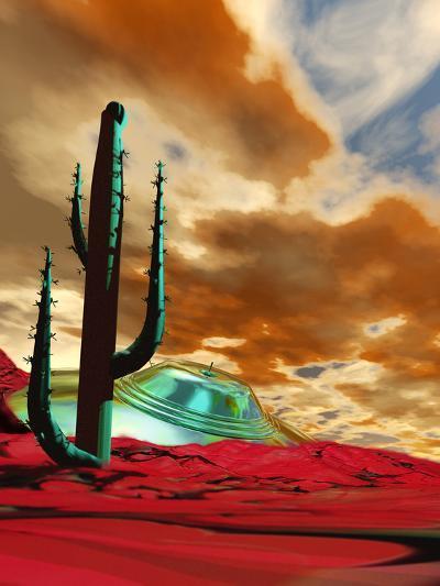 Crashed Alien Spacecraft-Victor Habbick-Photographic Print