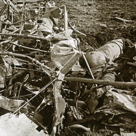 Crashed plane, Aisne, France, c1914-c1918-Unknown-Photographic Print