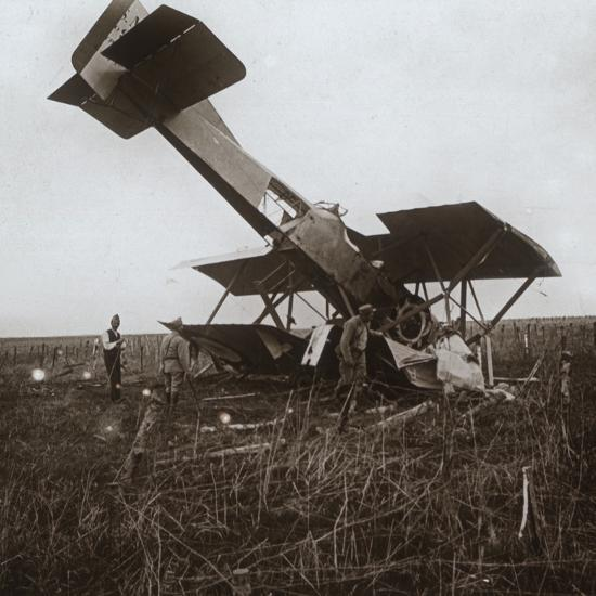 Crashed plane, Tracy-le-Val, northern France, c1914-c1918-Unknown-Photographic Print