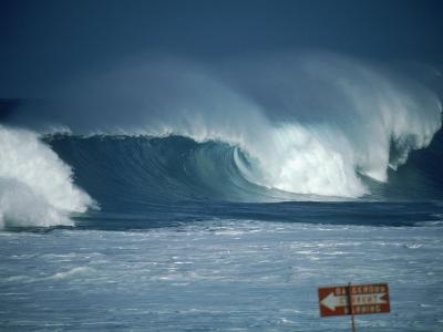 Crashing Waves, Oahu, Hawaii-Bill Romerhaus-Photographic Print