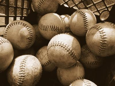 Crate Full of Worn Softballs-Doug Berry-Photographic Print
