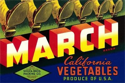Crate Label for March Vegetables--Art Print