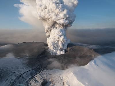 Crater at the Summit of the Volcano in Southern Iceland's Eyjafjallajokull Glacier--Photographic Print